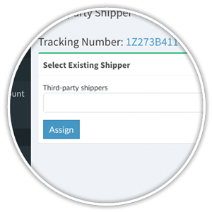 assign unused shipping label to registered shipper