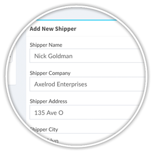 register new third-party shipper