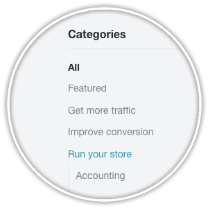 bigcommerce marketplace accounting category