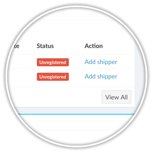unregistered third-party shipper records